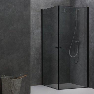 Douchewand inloopdouche 90x90cm zwart - LCS0900-B Eago