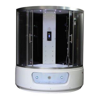 Stoomdouche met whirlpool 150x150cm zwart - DA336F12 Eago