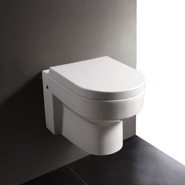 Hangend toilet closetzitting 56x36cm met softclose toiletbril - WD101P Eago