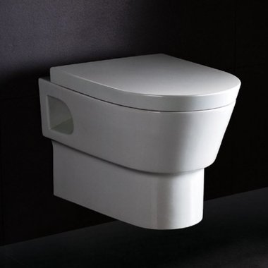 Hangend toilet closetzitting 55x38cm met softclose toiletbril - WD332P Eago