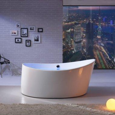 Whirlpool EAGO AM213 167x167 wit versterkt acryl, vrijstaand bad plug & play
