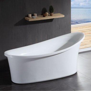 Whirlpool vrijstaand bubbelbad badkuip 180x85cm wit versterkt acryl - GFK1800-1 Eago