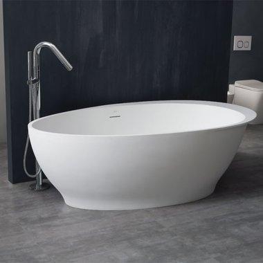 Mineraal gegoten vrijstaand bad BS-516 Glanzend wit