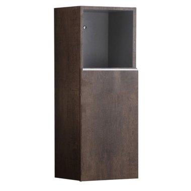 Badkamerkast kolomkast 90x36cm houtkleur donker eiken - Milano ME900B StoneArt