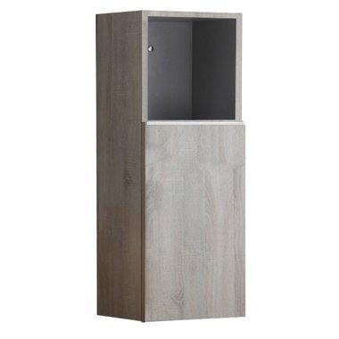Badkamerkast kolomkast 90x36cm houtkleur licht eiken - Milano ME900B StoneArt