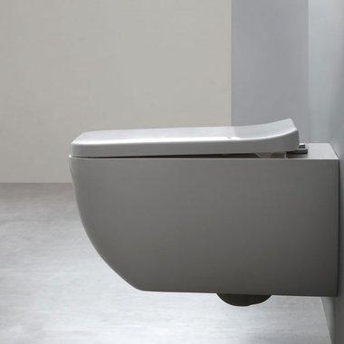 Hangend toilet 54x38cmmineraal gegoten mat wit - TMS-505P StoneArt