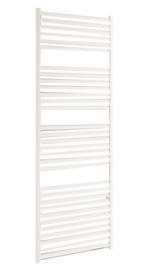 Handdoekradiator multirail straight Aluminium Mat wit - Eastbrook Velor