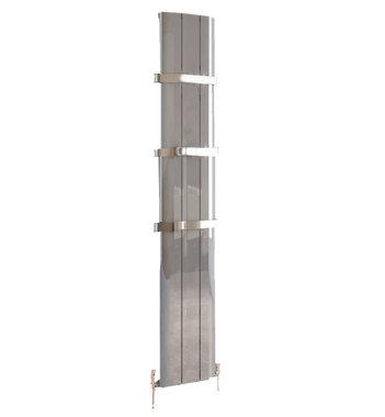 Design Radiator verticaal Aluminium Gepolijst aluminium - Eastbrook Peretti