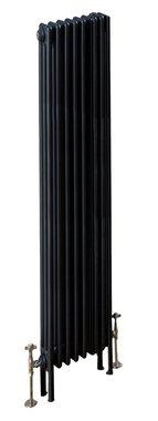 Design Radiator verticaal 3 kolom Staal Mat Antraciet - Eastbrook Rivassa