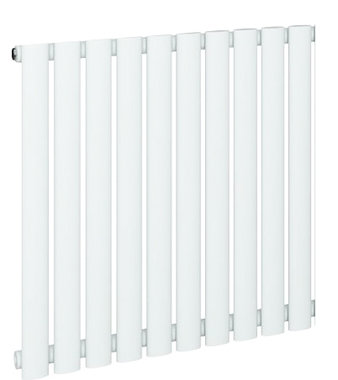 Design Radiator horizontaal Staal Mat Wit - Eastbrook Tunstall