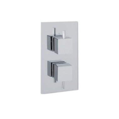 Vierkante doucheknoppen voor inbouw douchekraan (1 stuk) - Eastbrook