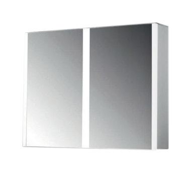 Spiegelkast twee-deurs met LED verlichting en spiegelverwarming 80x70x13cm - Casio Eastbrook