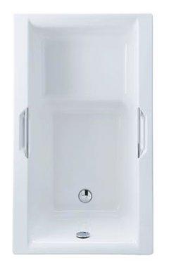 Zitbad inbouwbad wit 1250x725mm - Urban Eastbrook