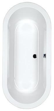 Vrijstaand bad ligbad badkuip dubbelzijdig Carronite wit 175x80cm - Halcyon Eastbrook