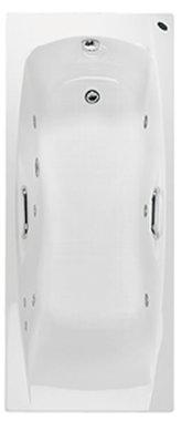 Whirlpool ligbad inbouw enkelzijdig wit 170x70cm - Imperial Eastbrook
