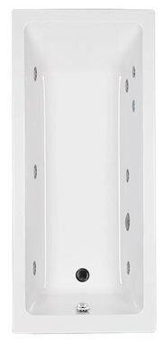 Whirlpool ligbad inbouw enkelzijdig wit/chroom 170x75cm - Quantum Eastbrook