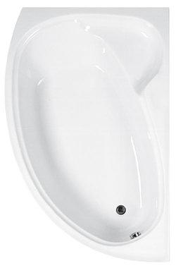 Hoekbad ligbad badkuip enkelzijdig rechts wit 1700x1000mm - Swan Eastbrook
