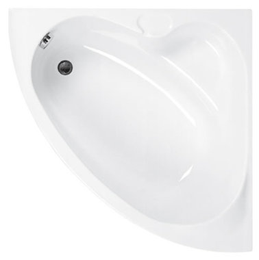 Hoekbad ligbad badkuip enkelzijdig wit 1050x1050mm - Rio Eastbrook