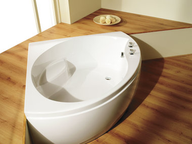Hoekbad ligbad kleine badkuip wit 1300x1300mm - Tranquillity Eastbrook