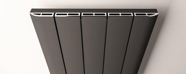 Afdekset radiator 123cm breed chroom - Peretti Eastbrook