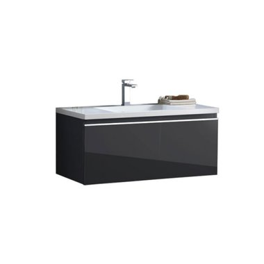 Badkamermeubel wastafel onderkast 100x45x48cm Donker grijs - Milano ME-1000 STONEART