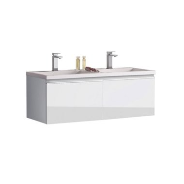 Badkamermeubel wastafel onderkast 120x45x48cm Wit - Milano ME-1200 STONEART