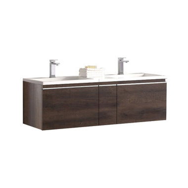 Badkamermeubel wastafel onderkast 140x45x48cm Donker eiken - Milano ME-1400 STONEART