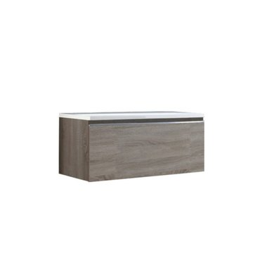 Badkamermeubel wastafel onderkast 100x45x48cm licht eiken - Milano ME-1000pro STONEART