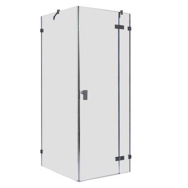 Douchecabine transparant 100x100cm deur rechts zonder frame - LAS1000 EAGO