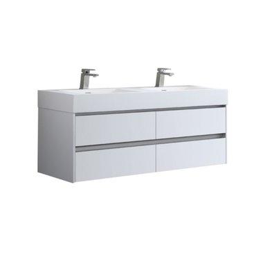 Badmeubel met wastafel EAGO Mailand ML-1400 Mat Wit 140x48