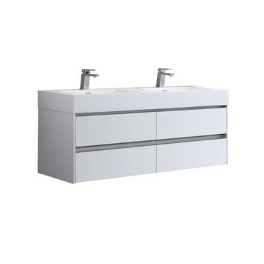 Badmeubel met wastafel EAGO Mailand ML-1400 Hoogglans Wit 140x48