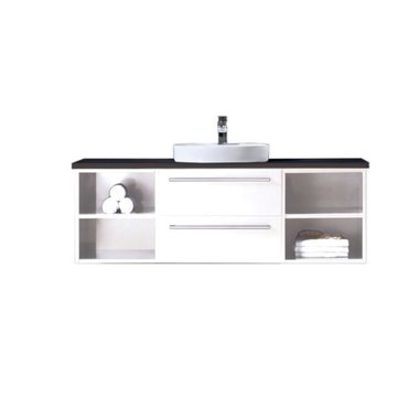 Badkamermeubel met waskom EAGO Neapel NA-1400 140x47 wit-zwart