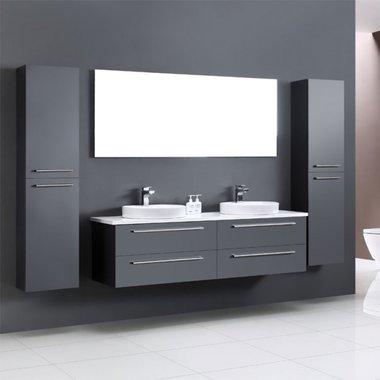 Badkamermeubel met waskommen Neapel NA-1600 grijs 160cm