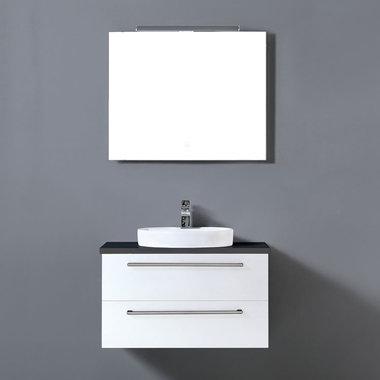 Badkamermeubelset met waskom EAGO Neapel NA-0800 wit 80x47