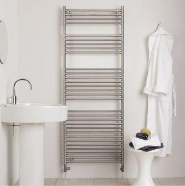 Handdoekradiator badkamer radiator RVS mat geborsteld - Seren Aeon