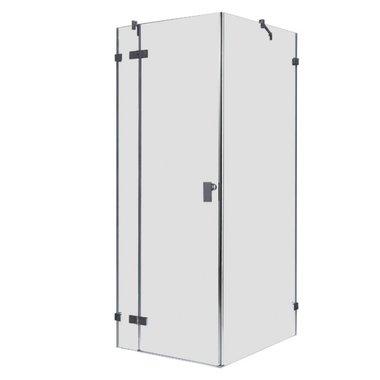 Douchecabine transparant 100x100cm deur links zonder frame - LAS1000 EAGO