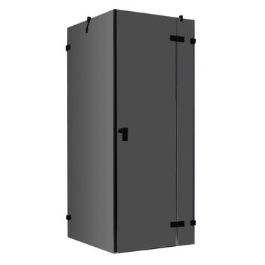 Douchecabine zwart 100x100cm deur rechts zonder frame - LAS1000-B EAGO