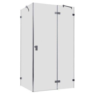 Douchecabine transparant 120x90cm deur rechts zonder frame - LAS1200 EAGO