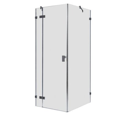 Douchecabine transparant 90x90cm deur links zonder frame - LAS0900 EAGO
