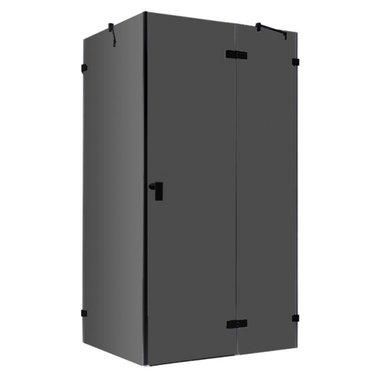 Douchecabine zwart 120x90cm deur rechts zonder frame - LAS1200-B EAGO