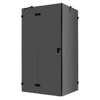 Douchecabine zwart 120x90cm deur links zonder frame - LAS1200-B EAGO