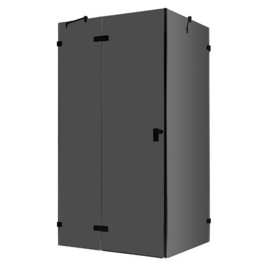 Douchecabine zwart 150x90cm deur links zonder frame - LAS1500-B EAGO