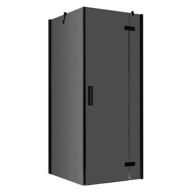 Douchecabine zwart 90x90cm deur rechts met frame - LBS0905-B EAGO