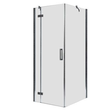 Douchecabine transparant 100x100cm deur links met frame - LBS1005 EAGO