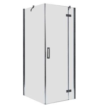Douchecabine transparant 100x100cm deur rechts met frame - LBS1005 EAGO