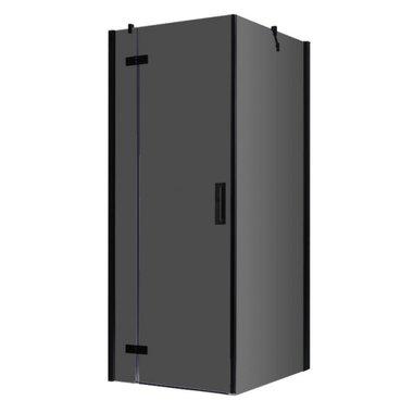 Douchecabine zwart 100x100cm deur links met frame - LBS1005-B EAGO