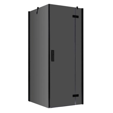 Douchecabine zwart 100x100cm deur rechts met frame - LBS1005-B EAGO