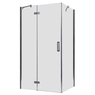 Douchecabine transparant 120x90cm deur links met frame - LBS1205 EAGO