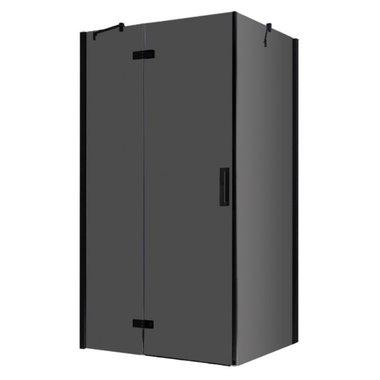 Douchecabine zwart 120x90cm deur links met frame - LBS1205-B EAGO