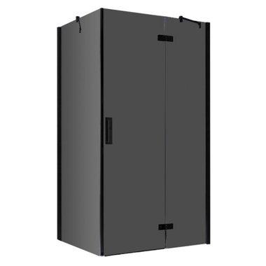 Douchecabine zwart 120x90cm deur rechts met frame - LBS1205-B EAGO